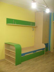 Мебель-для-детской-зелёная