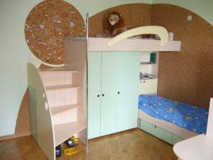 Мебель-для-детской-мдф-лдсп-без-ручек