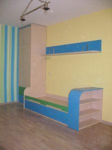 Мебель-для-детской-синяя